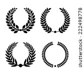 laurel wreaths on white... | Shutterstock .eps vector #222498778
