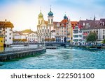 Cityscape Of Lucerne In The...