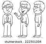 young man cartoon character at... | Shutterstock .eps vector #222501334