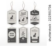 vintage clothing tags | Shutterstock .eps vector #222501736