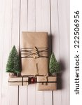 three small presents with xmas... | Shutterstock . vector #222506956