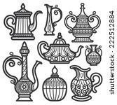 tea pot   kettle vintage   Shutterstock .eps vector #222512884