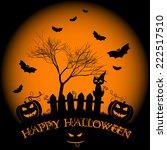 festive illustration on theme... | Shutterstock .eps vector #222517510