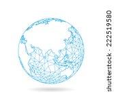 geometric abstract earth globe... | Shutterstock .eps vector #222519580
