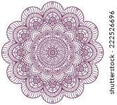 mandala. round ornament pattern.... | Shutterstock .eps vector #222526696