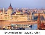 danube river with tourist boat... | Shutterstock . vector #222527254