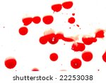 abstract blood on white... | Shutterstock . vector #22253038