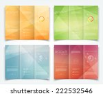 vector collection of tri fold... | Shutterstock .eps vector #222532546