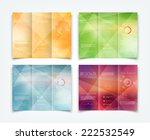 vector collection of tri fold... | Shutterstock .eps vector #222532549
