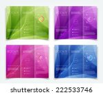 vector collection of tri fold... | Shutterstock .eps vector #222533746
