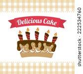pastry graphic design   vector... | Shutterstock .eps vector #222534760