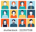 collection of characters  ... | Shutterstock .eps vector #222537538