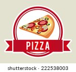 pizza graphic design   vector... | Shutterstock .eps vector #222538003