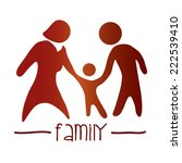 family graphic design   vector... | Shutterstock .eps vector #222539410