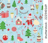 pattern merry christmas | Shutterstock .eps vector #222540169