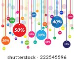 vector discounts cover | Shutterstock .eps vector #222545596