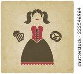 oktoberfest girl with beer mug...   Shutterstock . vector #222546964