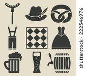 oktoberfest beer festival icons ... | Shutterstock . vector #222546976