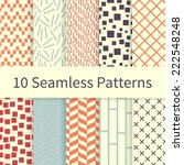 10 geometric fashion different... | Shutterstock .eps vector #222548248