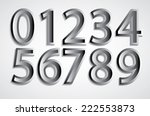 abstract vector metal numbers... | Shutterstock .eps vector #222553873