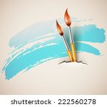 brushes for drawing from torn... | Shutterstock .eps vector #222560278