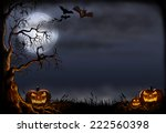 halloween background digital... | Shutterstock . vector #222560398