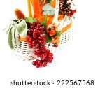 autumn decorative basket | Shutterstock . vector #222567568