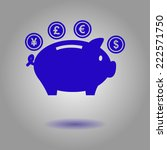 piggy bank icon. pictograph of...