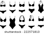 lots of swimsuits vectors | Shutterstock .eps vector #222571813