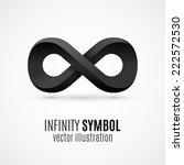 black 3d infinity symbol....   Shutterstock .eps vector #222572530