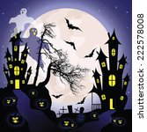 halloween background with... | Shutterstock .eps vector #222578008