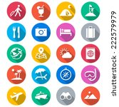 traveling flat color icons | Shutterstock .eps vector #222579979