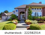 big luxury house with tile roof ... | Shutterstock . vector #222582514
