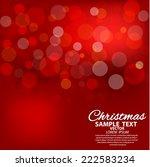 red defocused lights | Shutterstock .eps vector #222583234