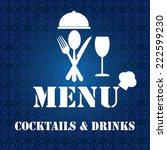 restaurant menu design | Shutterstock .eps vector #222599230