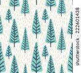 seamless vector christmas tree... | Shutterstock .eps vector #222601438