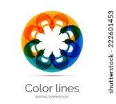 symmetric abstract geometric... | Shutterstock .eps vector #222601453