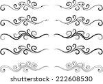 vector lines | Shutterstock .eps vector #222608530