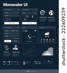 monocolor ui kit   set of user...