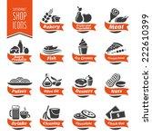 supermarket shelf icon set   4 | Shutterstock .eps vector #222610399