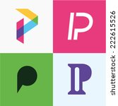 Vector Illustration Letter P Set