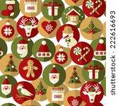 seamless christmas pattern.... | Shutterstock .eps vector #222616693