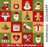 christmas design icons set.... | Shutterstock .eps vector #222616699