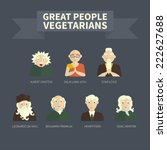 vegetarians. icons. famous