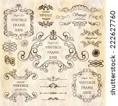 vector set  calligraphic design ... | Shutterstock .eps vector #222627760