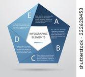 pentagonal infographic  | Shutterstock .eps vector #222628453