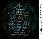 vintage restaurant background | Shutterstock .eps vector #222628750