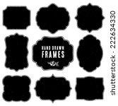set of vintage blank frames and ...   Shutterstock .eps vector #222634330