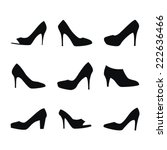 shoes silhouettes | Shutterstock .eps vector #222636466