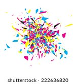 cmyk abstract explosion design